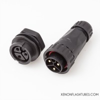 3P Flash head connector, Heavy duty Xenon flash tube lamp connector plug