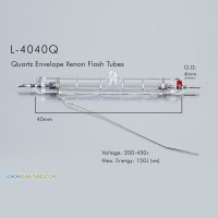 L-4040Q UV Quartz Xenon Flashtube 4.0x40mm IPL Lamp
