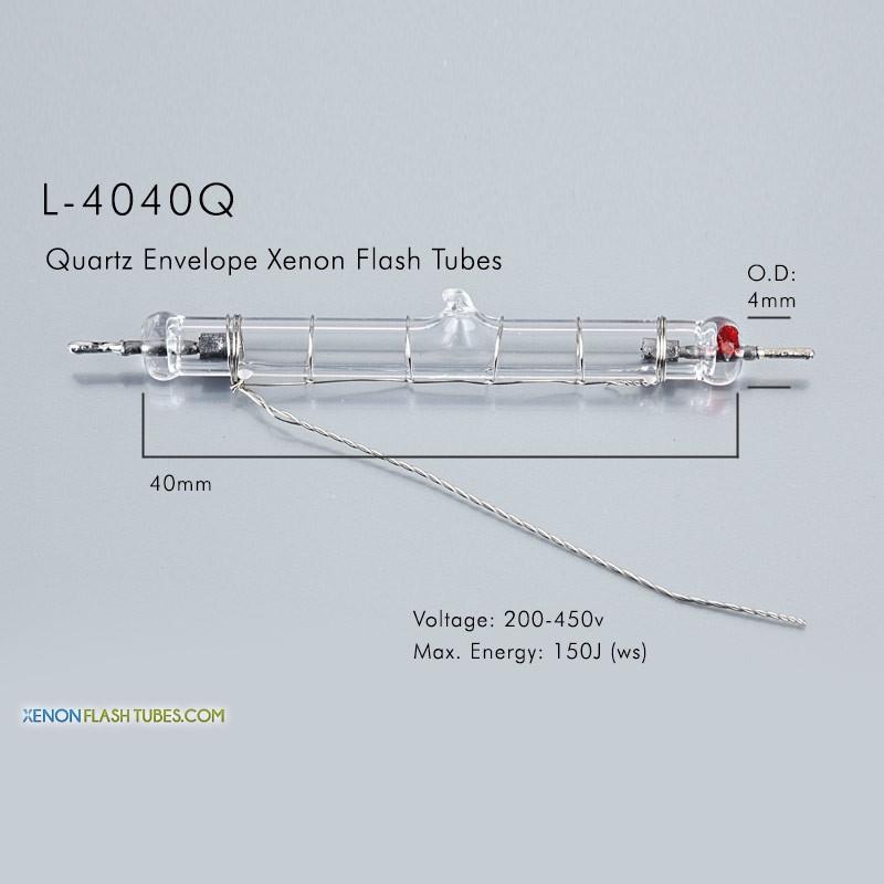 L-4040Q UV Quartz Xenon Flashtube 4.0x40mm IPL Lamp