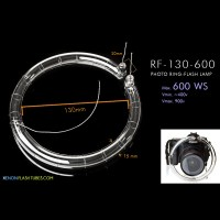 Ring-Flash Lamp for shadow-less Photography 600ws Flashtube 130mm 160mm