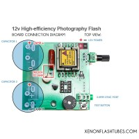 12v 24v DC Photo Flash Module, Xenon flash integrated strobe driver board PCB