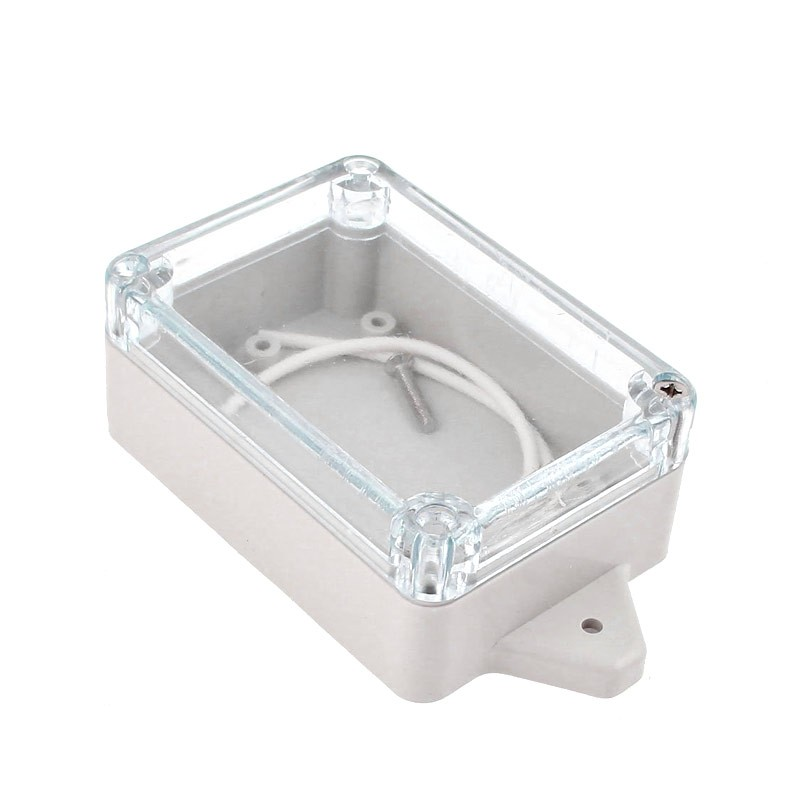 Clear Enclosure with tabs - Plastic Project box 85x58x33mm - Flash Strobe alarm housing