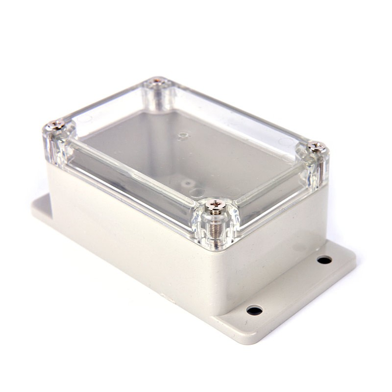 Clear Enclosure with tabs - Plastic Project box 100x68x50mm - Flash Strobe alarm housing