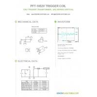 ZS-1052/1 PFT-1052V Trigger coil for Xenon flash tube lamps