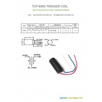 TCP-6002 12KV Trigger coil for Xenon flash tube lamps