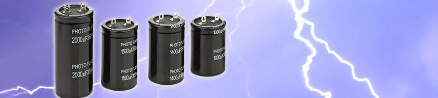 PhotoFlash Capacitors - Pulse Xenon flash strobe Electrolytic ESR 360v