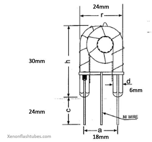 spiral strobe xenon flash tube lamp flicker stroboscope